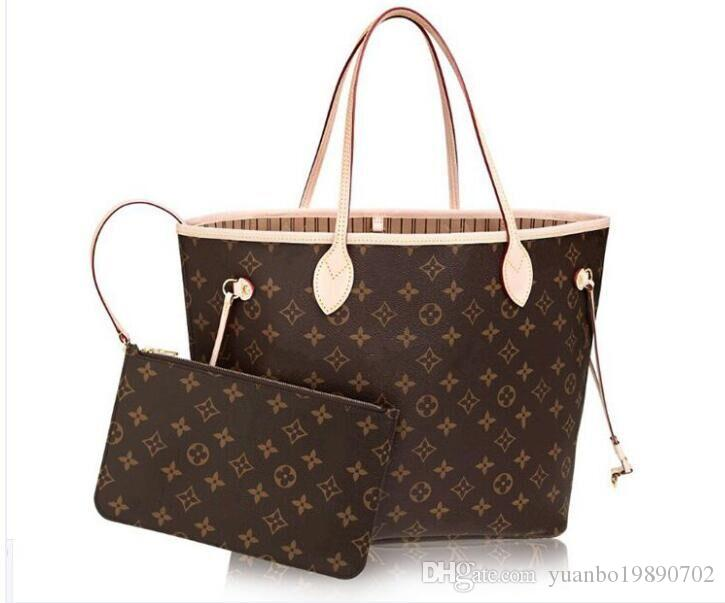 2pcs / set qulity dames de fleur sacs à main pour femmes Designer classique fourre-tout composite sacs à bandoulière embrayage en cuir PU sac à main femme avec porte-monnaie
