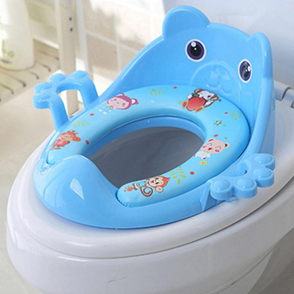 Cartoon Baby Toilet Potty Seat Cushion Lightness and Portability No Space Occupy with Armrest Children Toilet Training Pad