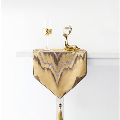 Китайский стиль кисточкой стол бегун 3 цвета скатертей MOQ 5шт роскошь retangle кофе сервант скатерти