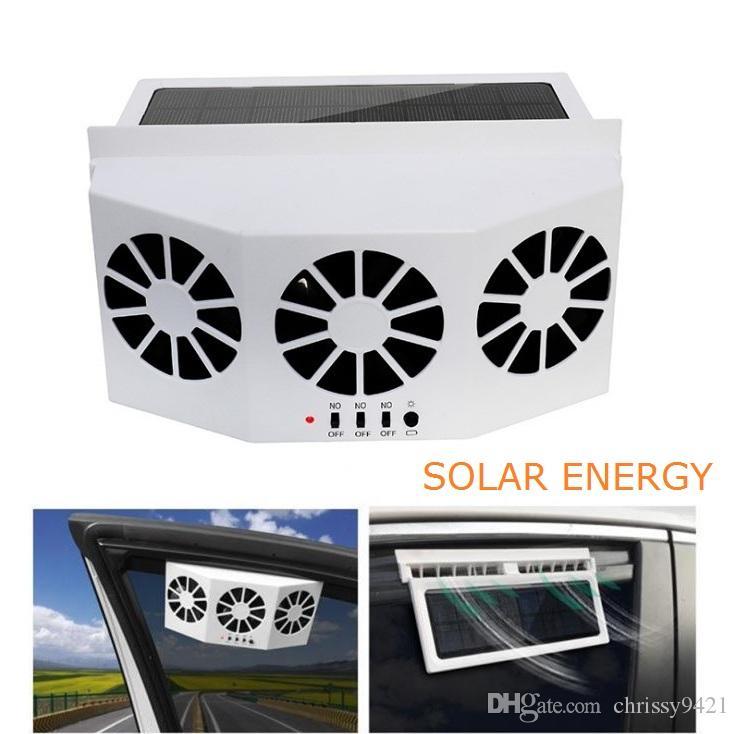3 del dispositivo di raffreddamento auto ventilatore solare ventilatore di scarico dell'aria portatile Sicuro Auto solare ventola anteriore vetri posteriore Air Vent Demister Ventilation System