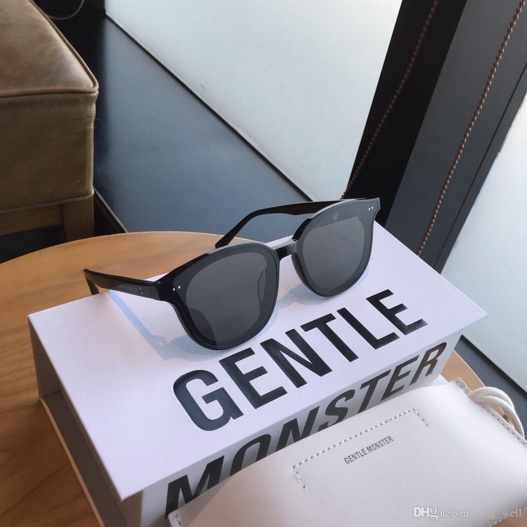 2020 nuovo arrivo Occhiali da sole rotondi Retro uomini donne delicato disegno di marca occhiali da sole vintage Coating specchio UV400 LANG