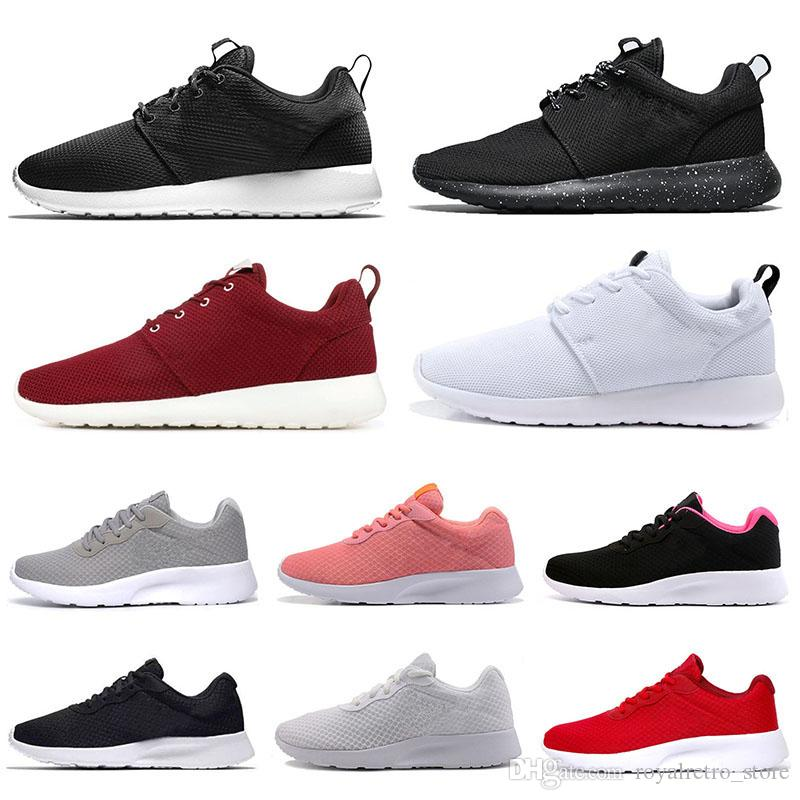 nike roshe tanjun tênis para mulheres dos homens sapatos triplo preto branco mens formadores marca london esportes tênis corrida andando 36-45