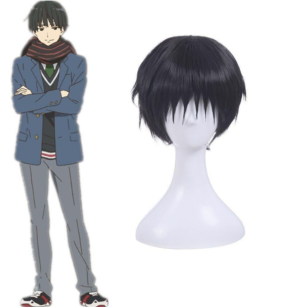 Détails sur Nase Hiroom Kazuto Kirigaya cosplay noir Perruques droites courtes Bang pleine perruque de cheveux