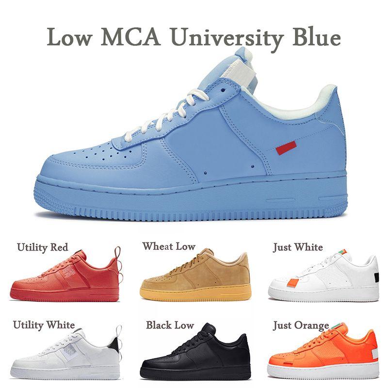 Nike Air Force 1 One OFF White bas MCA Université Bleu dunk 1 Une femme Chaussures Hommes Casual Utility Rouge Volt Lin Noir Blanc Plate-forme de planche à Chaussures