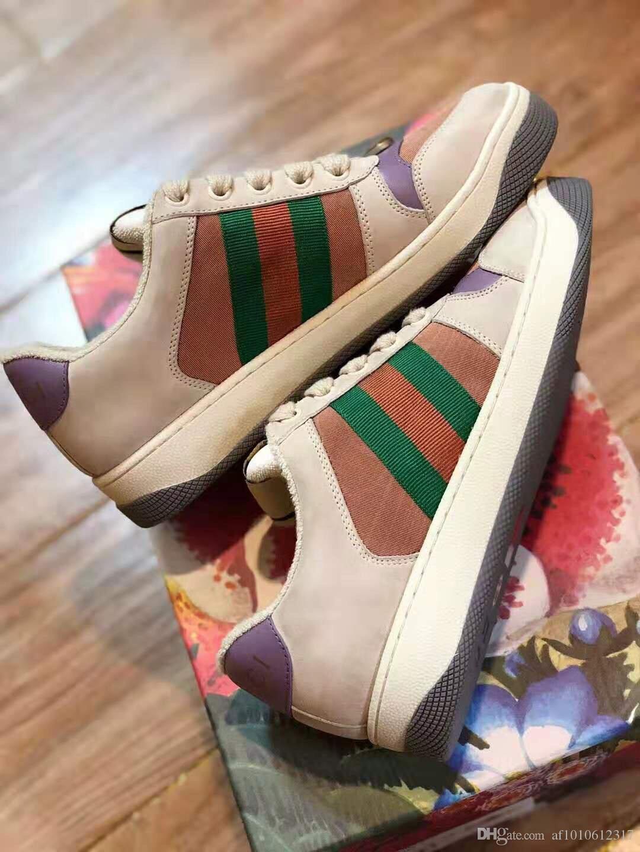 2020 pattini casuali delle donne di modo degli uomini classici del cuoio genuino Old Skool New Shoes Moda scarpe da tennis unisex 10 colori 35-45 1003