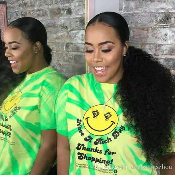 140g афро кудрявый вьющиеся человеческие волосы хвост для черных женщин натуральный цвет Реми волос 1 шт. клип в шнурок хвостики наращивание волос