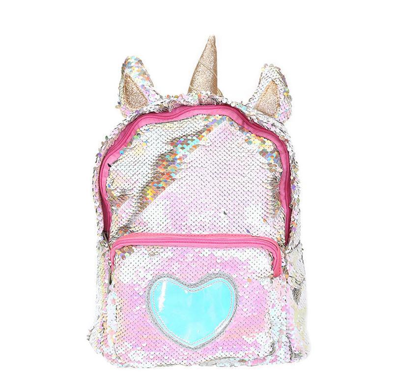 New Sequins Backpack Women Pu Leather Mini Travel Soft Bag Fashion Schoolbag For Teenager Student Girls Book Bag Satchel Y19051405