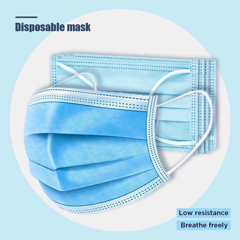 3 strati maschere 200pcs addensare monouso volto personale Protezione scudo industriale Protezione Ply libero del DHL trasporto veloce