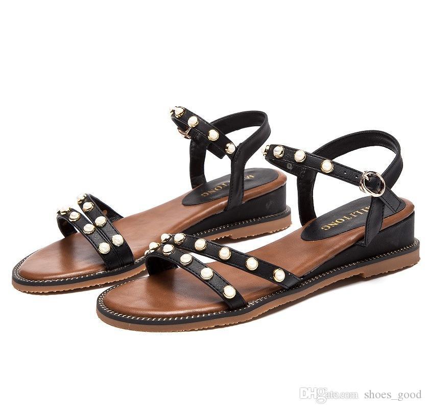 Summer Fashion Women Beach Sandals Beading Diamond Decoration Ladies Girls Love Wear Fashion Stylish Young Fresh Style Slipper Scuffs Shoes