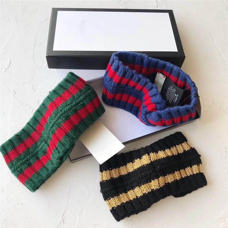 Articoli da regalo Luxary G stile trasversale fascia per le donne e gli uomini di moda elastico verde Red Stripe Donne Hairband Retro ragazza fascia dei capelli Turbante headwraps