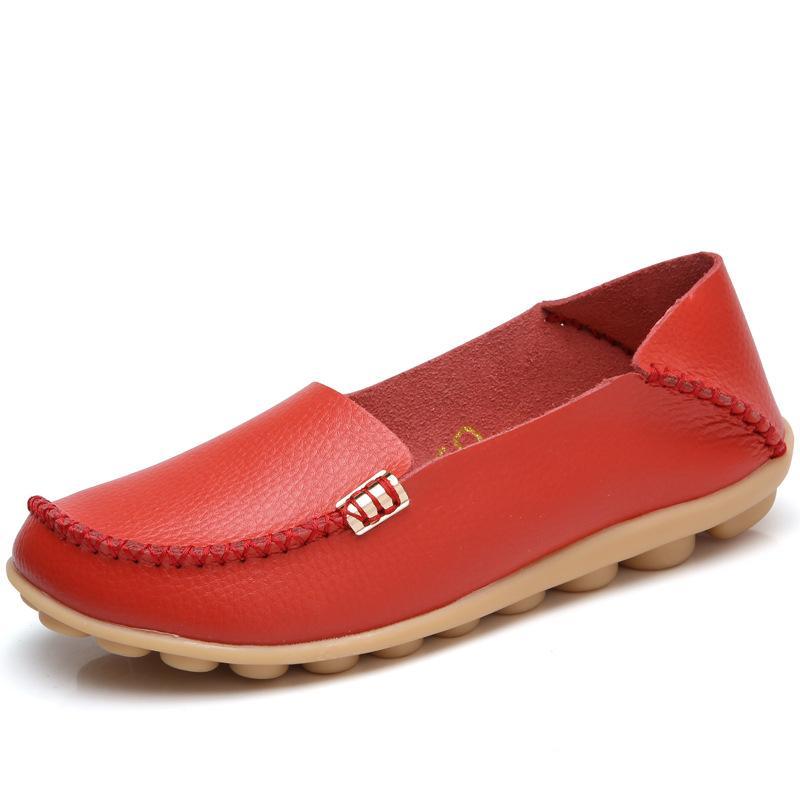 Más el tamaño 35-44 de las mujeres zapatos de los planos de los holgazanes caliente 2020 del color del caramelo de las mujeres zapatos planos de las señoras de ballet zapatos cómodos Zapatos de mujer