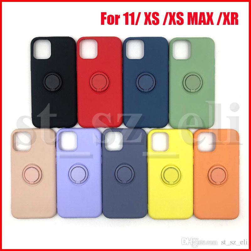 아이폰 XS MAX XR 아이폰 (11) 아이폰 X 케이스 실리콘 링 홀더 케이스 백 커버