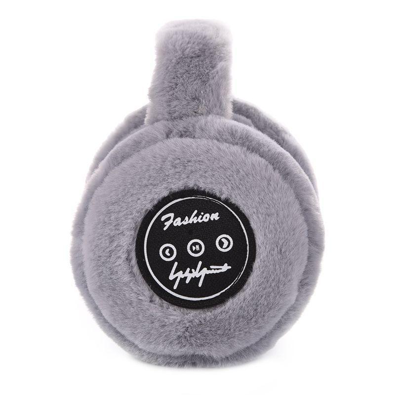 شتاء دافئ للطي بلوتوث غطاء للأذنين دافئ اللاسلكية القطيفة سماعات الأذن حماية سماعات بلوتوث قطرة شحن