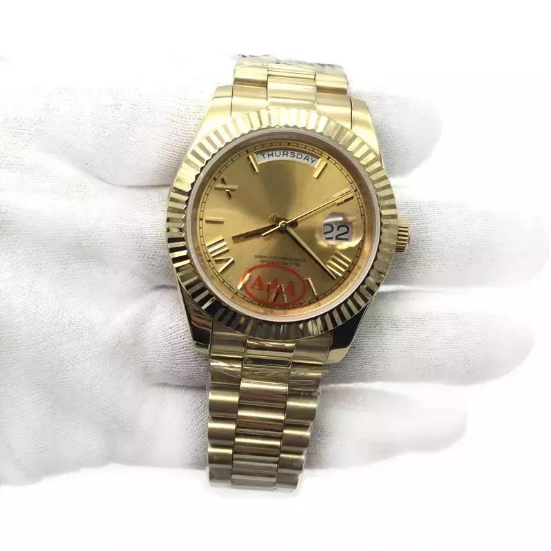 bel design ultima selezione funzionario di vendita caldo Luxury 18K Gold President Day Date Sapphire Cystal Geneva Men Watches  Automatic Mechanical Movement Male Wrist Watch Relo Reloj Online Buy  Watches Buy ...