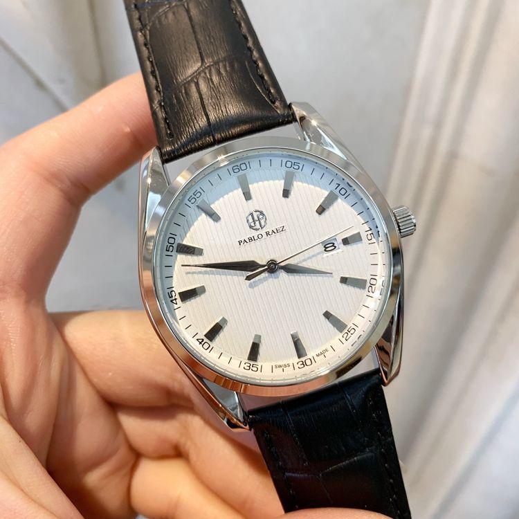Whosale price New Fashion man watch black leather Retail watches High-grade watch Male luxury Wristwatch top quality design Nice clock Nice