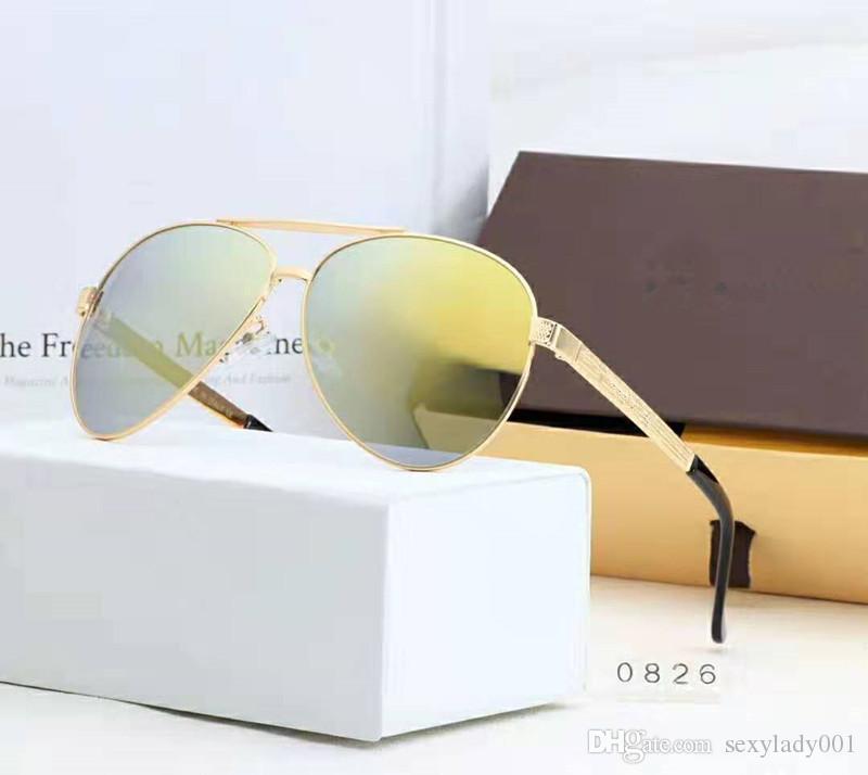 New Arrivals 7 cores homens vidros de sol desportivos de alta qualidade óculos de sol ao ar livre com conjunto completo de embalagem frete grátis 0826.