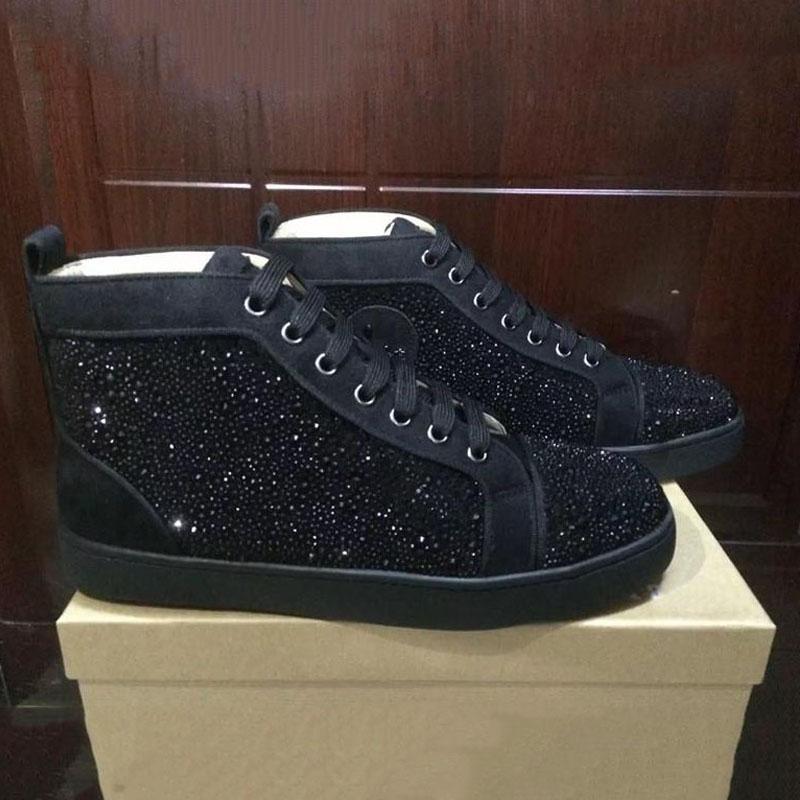 Designer-de hommes en cuir femmes fond plat chaussures de sport de luxe baskets mode 36-47 avec sac à poussière de boîte