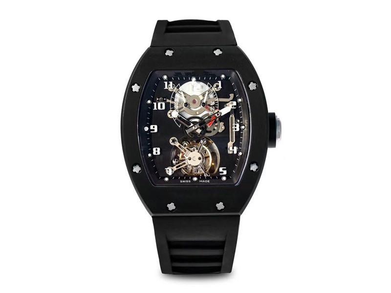 Новое Высокое качество, Мужская модель, RM001 Оригинальные Руководства Реальное движение Турбийон, 40 мм Дизайнерские Часы, Сапфировое стекло