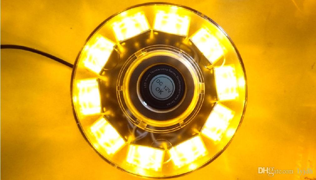 30W 12V 고성능 황색 자동차 트럭 점멸 스트로브 비콘 비상 경고 LED 조명
