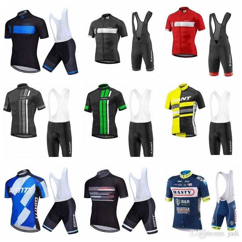 2019 Wanty GIANT Short Sleeves Cycling Jersey Bib shorts Sets Bicycle Clothing Racing Sport Bike Clothes Wear Maillot ropa Ciclismo K042603