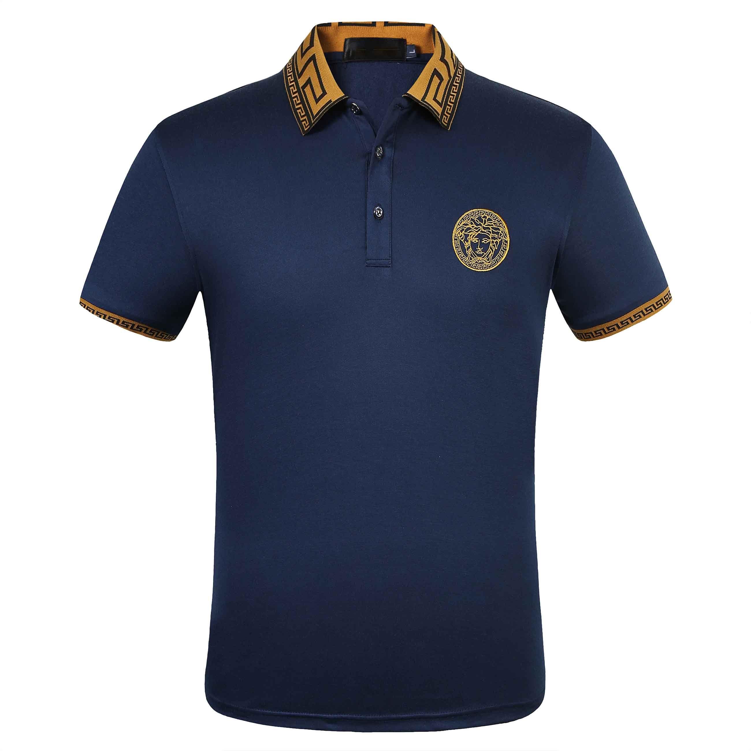 Летние мужчины роскошный бренд высшего качества Крокодил вышивка рубашки поло с коротким рукавом прохладный хлопок Slim Fit повседневные деловые мужские рубашки
