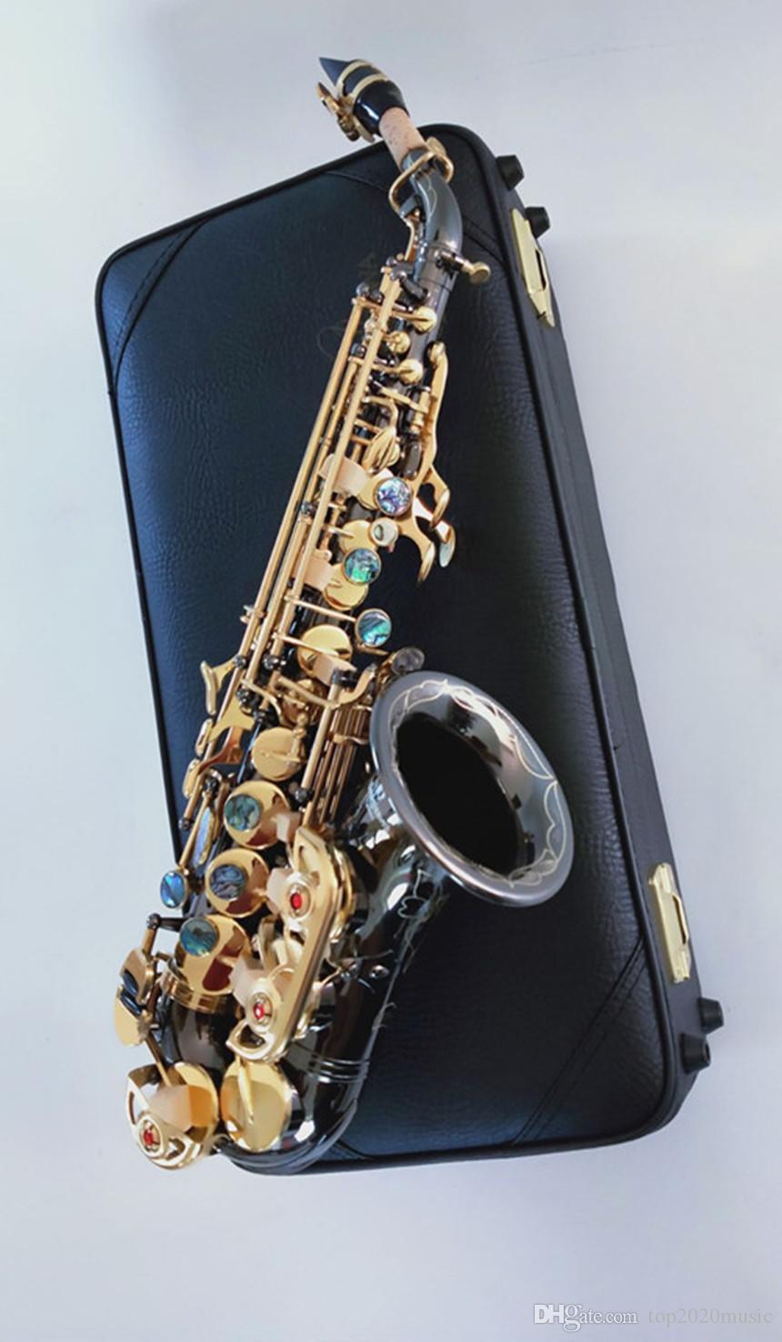 العلامة التجارية الجديدة ياناجيساوا S-991 ب ب اللحن أداة الموسيقى المفتاح الذهبي عالية الجودة منحني السوبرانو الساكسفون مع الناطقة بلسان حالة