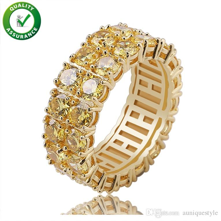 Hip Hop Jewelry Mens Rings Luxury Designer Diamond Finger Ring Rapper Gold Pandora Style Charms Women Love Engagement Wedding Rings Sets