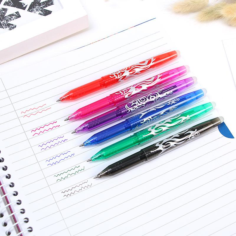 New 0.5mm Erasable Pen 1 pcs Refills Colorful 8 Color Creative Drawing Tools Student Writing Tools Office Stationery
