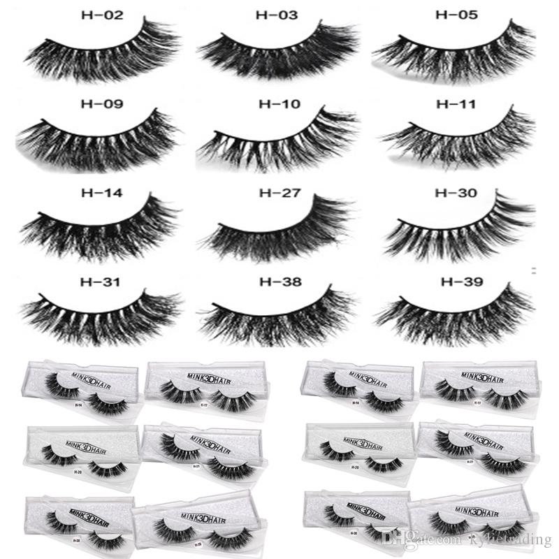 3d mink eyelashes 12 styles siberian mink lashes eyes makeup 3d Mink Eyelashes Extension Beauty Tools make up with individual package