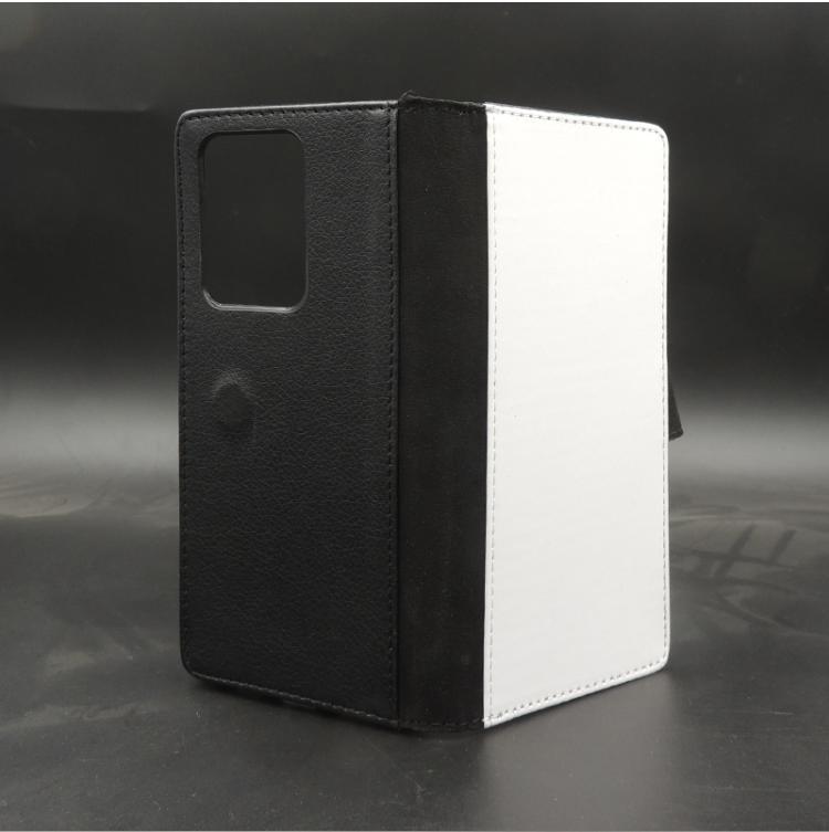 삼성 S21 / S20 Ultra / S10 Plus / S9 / S8 / Note 10 열전달 소프트 TPU 커버 용 2D 승화 블랭크 가죽 케이스