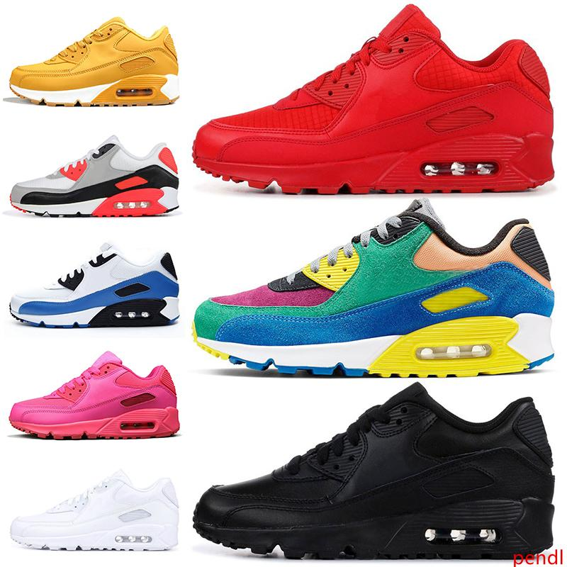 New Fashion Cushions 90 90s Running Shoes for men women Essential Red Triple Black Viotech BE Ture Infrared OG tennis trainers sneakers