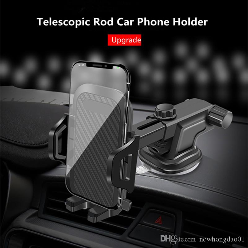 Luxury Car Phone Holder For iPhone 11 Pro Plus Windshield Car Mount Phone Stand Car Holder For Samsung S20 Note 10