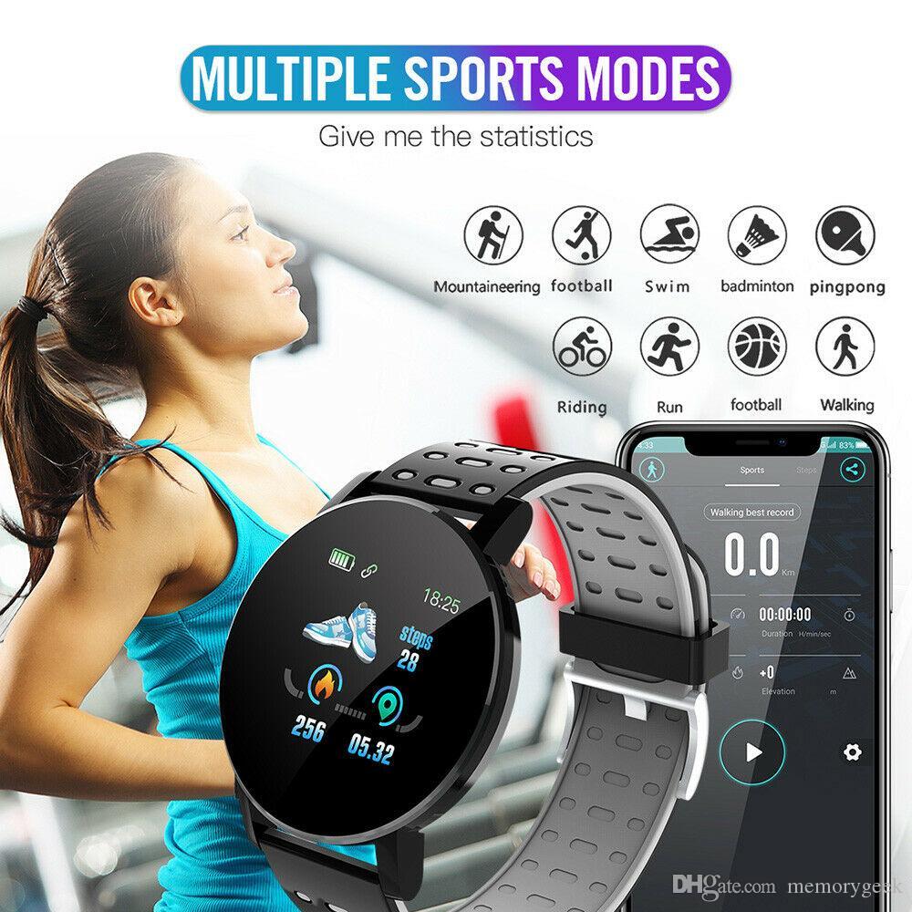 119plus Bluetooth Смарт часы GPS водонепроницаемый монитор сердечного ритма Фитнес Tracker Informaition Напоминание SIM-камеры 3D SmartWatch