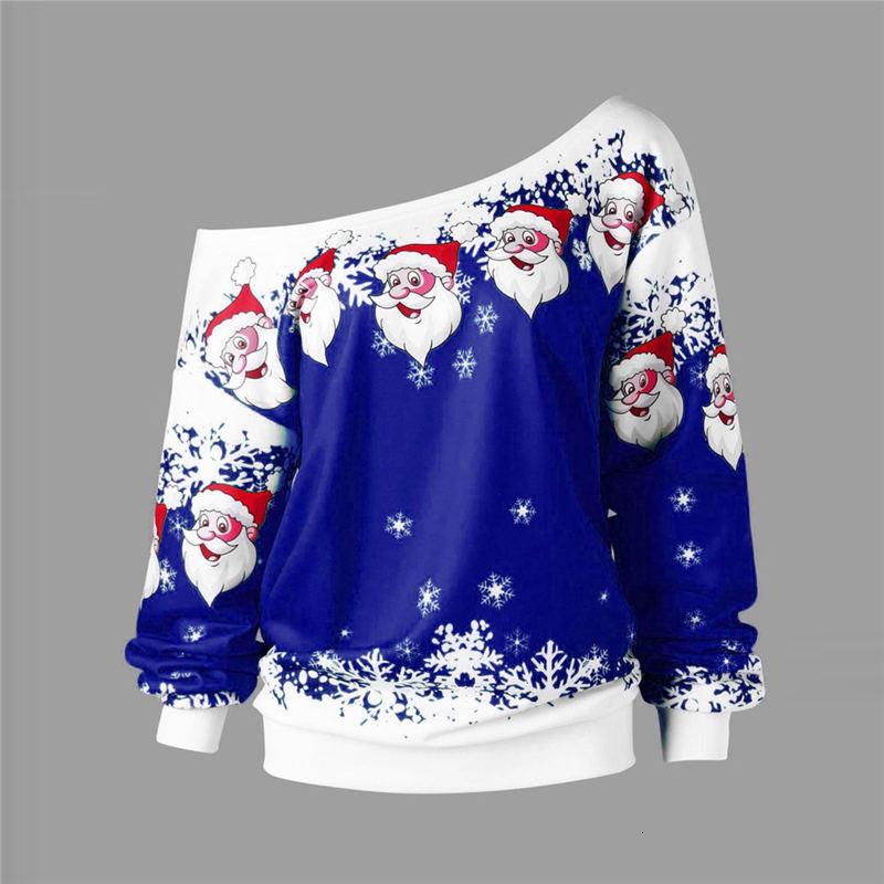 2018 Çirkin Noel Triko Noel Baba Baskılı Gevşek kar tanesi Triko Unisex Kazak Sonbahar Kış Noel Giyim Y191025 Tops