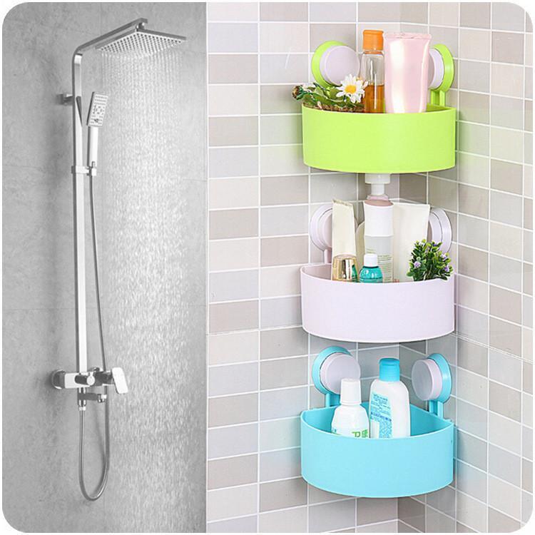 Supporto per ripiano a ventosa per bagno, appendiabiti da parete, triangolo, bagno, cucina, organizzatore