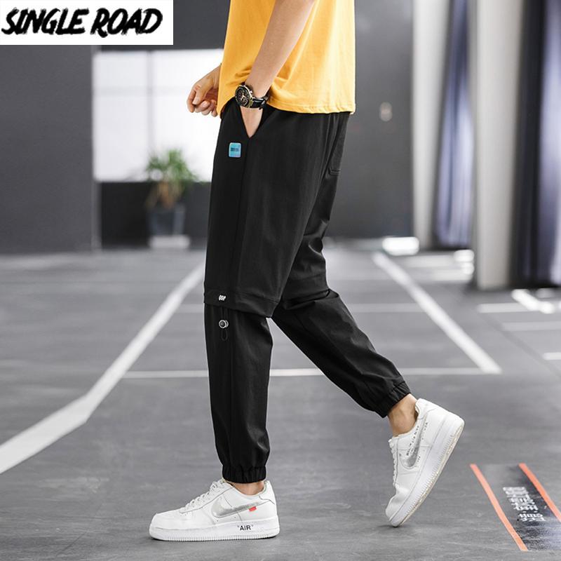 SingleRoad Erkek Sweatpants Koşucular Erkekler 2020 Yaz Soğuk Duygu Yan Harajuku Hip Hop Japon Streetwear Punk Pantolon Men Pockets