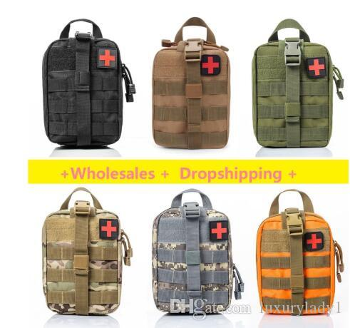 DHL frei Durable Notinstallationssätze Tasche Tactical medizinische Erste-Hilfe-Ausrüstung Militär Hüfttasche Outdoor-Camping-Reisen Tactical Molle Pouch