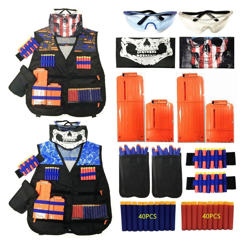 chaleco táctico conjunto el sistema del juego 2020 de los niños de NERF N-Strike chaleco accesorios de juguete kit de soporte de la serie de los niños de élite