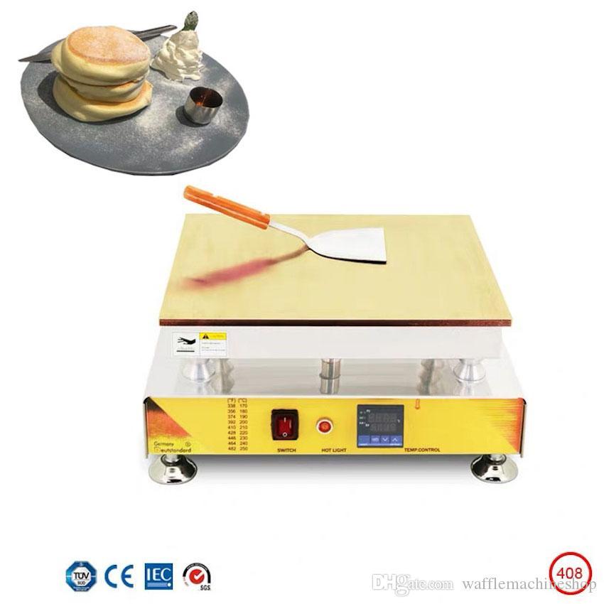 Elektrikli Kalınlaşmış Bakır Plaka Sufle Kek Makinesi Makinesi Dorayaki Maker Dijital Ekran Sıcaklık Kontrol Fransız Kek Makinesi