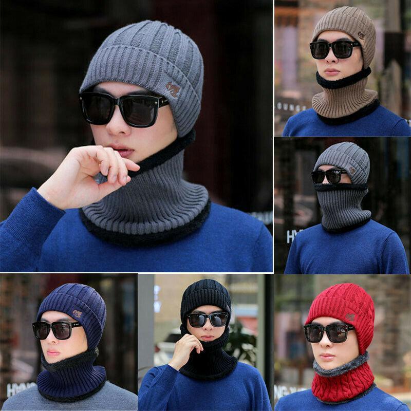 2020 новые 2 шт. мужчины весна осень зима теплая мягкая вязаная шапка Шапочка шляпа и шарф набор мужчины мальчик нагрудник с капюшоном шапка твердый нагрудник с капюшоном шляпа