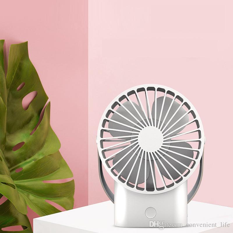2500 mAh Dahili Pil Şarj Edilebilir Yaz Soğutma Fanı Mini Açık Taşınabilir Fan Masaüstü 3 Hız Ayarı Mini Klima