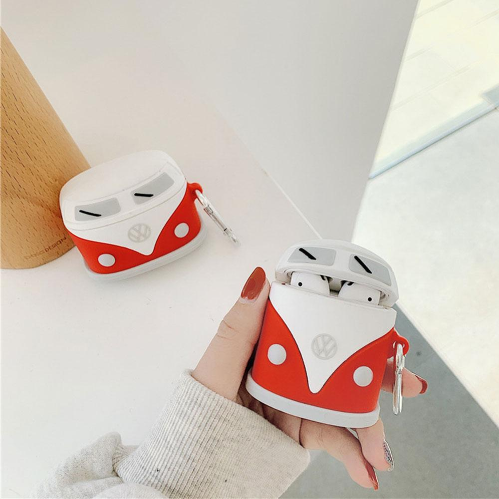 Cute cartoon silicone headphone case stereo car for Apple AirPods 1 2 3 headset soft case wireless bluetooth silicone case