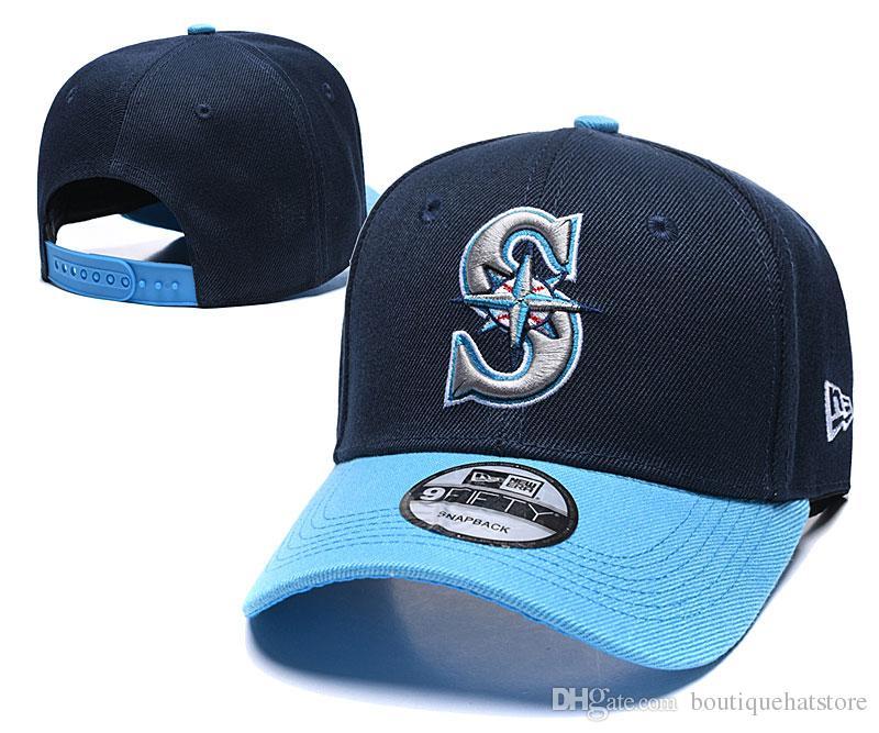2019 High Quality Men's Mariners Team Color Golf Visor Snapback Hats Brand Pupular Sport Baseball All Team Fan's One Size Adjustable Caps