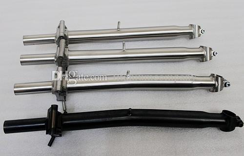 Titanium black handlebar suitable for brompton 25.4mm