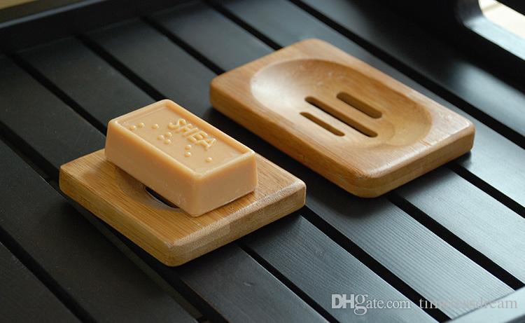 Natural sabonete de bambu handmade sabão bandeja portador de armazenamento sabão placa de placa de placa recipiente para banho casa de banho