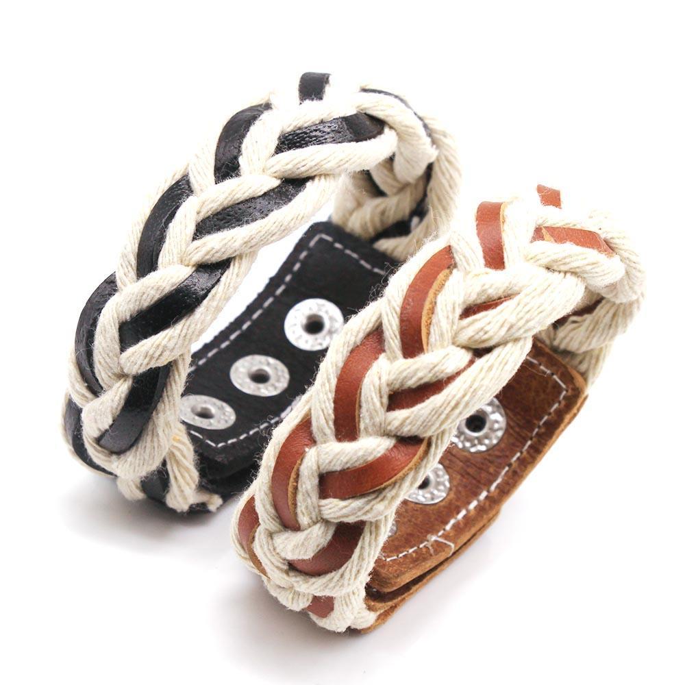 2019 Модельер Vintage Браслет Punk Wrap кожаный браслет женщин способа шарма Сувенирная Lovers подарков ювелирные изделия