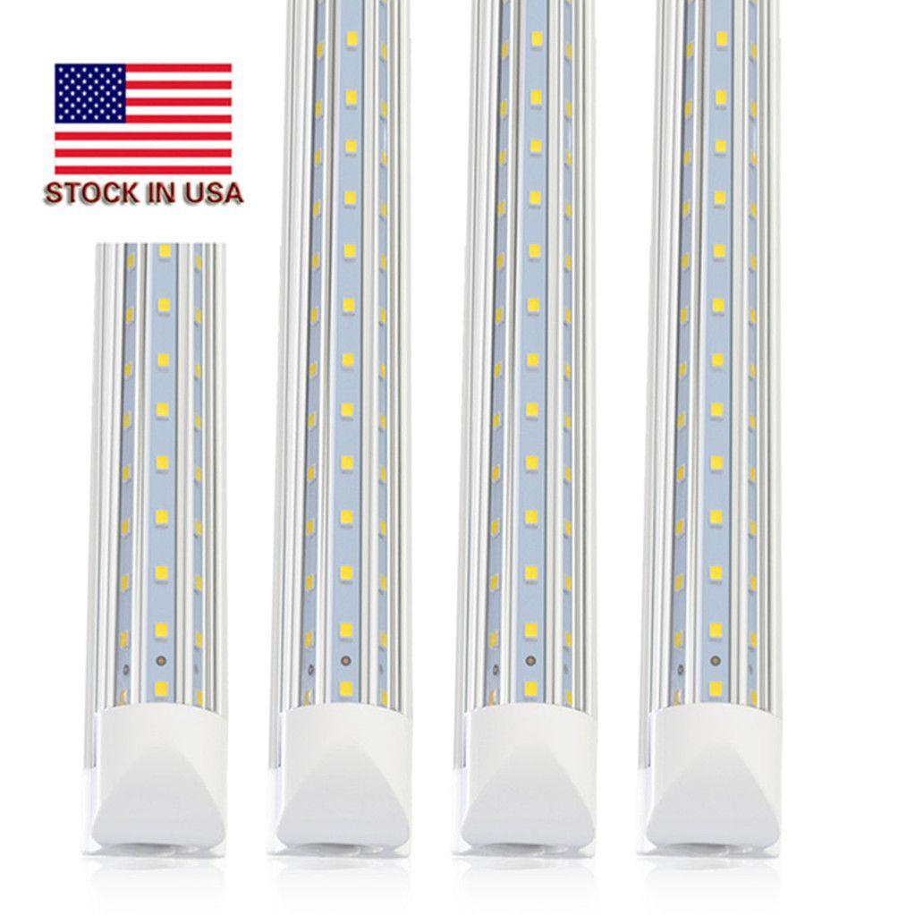 D en forma de 120W 8 pies T8 Led tubos de luz de 4 pies 8 pies en forma de V tienda de Led refrigerador de puerta tubos de iluminación Congelador triple fila de luces de accesorio