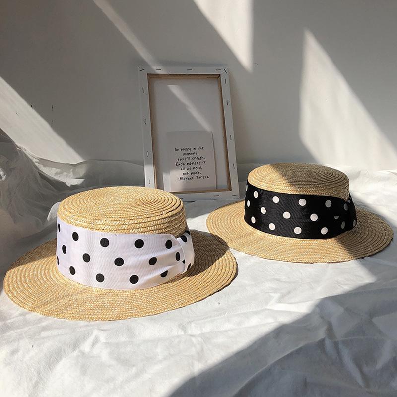 2020 Été Femmes Chapeau de paille à larges bords Mode Chapeau Lady Sun Chapeaux Canotier blé Panama City Beach Chapeaux Chapeu Feminino Caps