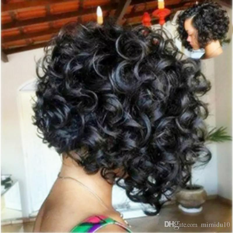 XIUZHIMEI alta qualità esplosioni commercio estero parrucca capelli soffici neri africani neri capelli corti capelli ricci