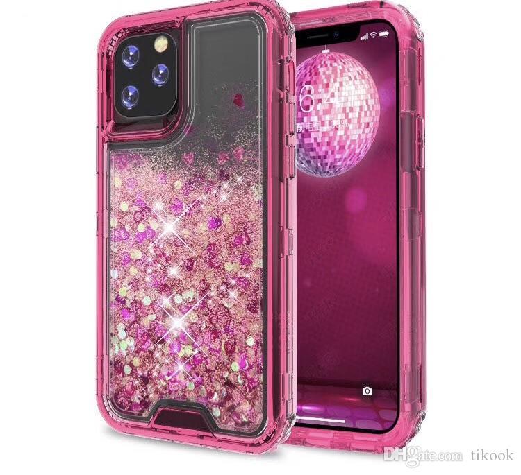 iPhone 11 iPhone12 iphone için Renkli Bataklık Defender Sıvı Davasını Parıldarım 12 XRStylo6 K51 A01 A21 A11 G Stylus MOTO E7 Aristo5 K31 Kutuları